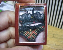 Miniature LINGERIE SET for display. As featured in American Miniaturist 147 (july 2015)