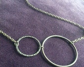 Brass Hooped Necklace