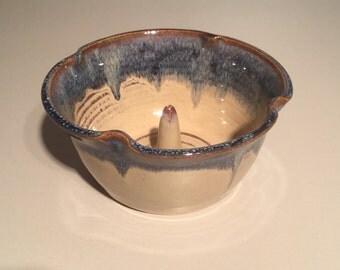 Apple Baker / Handmade ceramic , pottery, Blueberry color