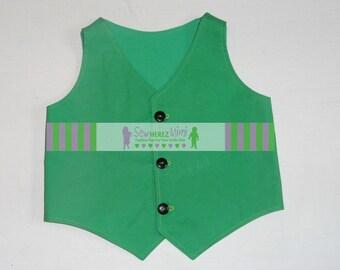 Kelly Green Vest Infant Toddler Boys Sizes thru Youth 10