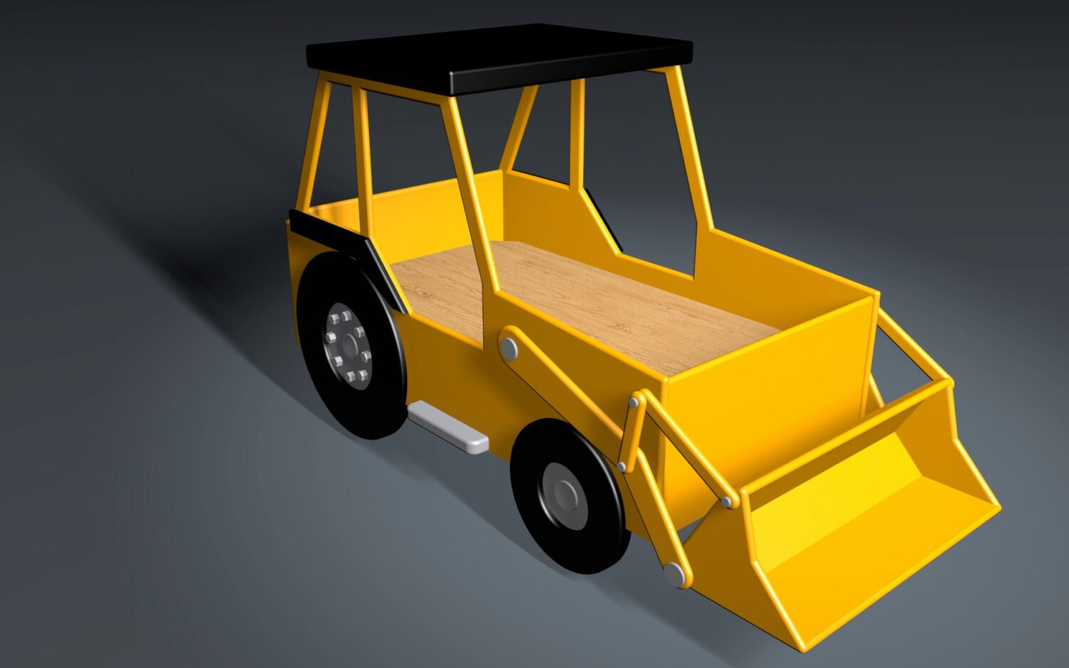 Front End Loader Crib Size Bed Woodworking Plan