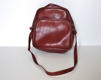 Vintage Red Luggage, Carry-On Bag