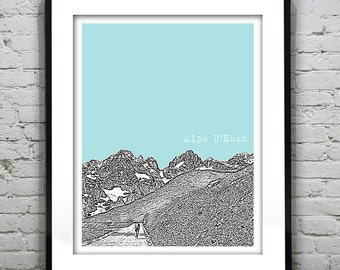 Alpe D'Huez France Poster Tour de France Art Print Version 1