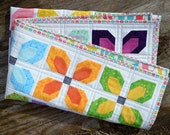 Baby Girl Quilt for sale, bright nursery bedding, modern patchwork, Solids and prints, flowers, blooms, pretty, colorful, rainbow