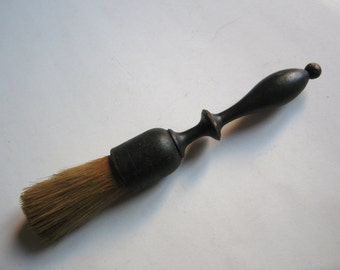 antique wooden barber's brush