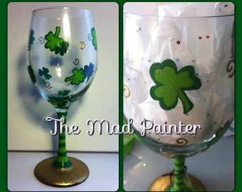 St. Patrick's Day ShamROCKING Glassware