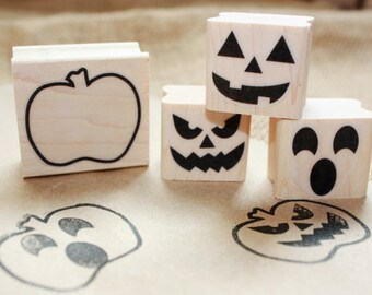 Pumpkin Set Rubber Stamp