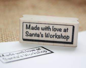 Santa's Workshop Rubber Stamp