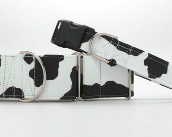 A Moo Point Dog Collar (Martingale, Buckle or Tag)