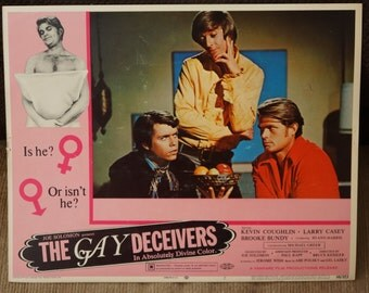 "Lobby Card    ""The Gay Deceivers""   Original  1969  Lobby Card           RARE"