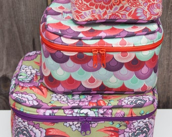 Crimson and Clover Train Cases PDF Sewing Pattern