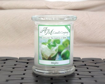 Mojito Scented Candle- Scented Soy Candles, Lime Scented Candles, Mint Scented Candles, Mojito, Miami Candle, Paradise Candle, Hand Poured
