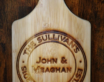 Personalized Bamboo Cutting Board Engraved by Laser Anniversary, housewarming gift