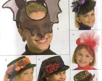 Butterick Pattern 5118 HALLOWEEN MASK & HATS Misses - Girls