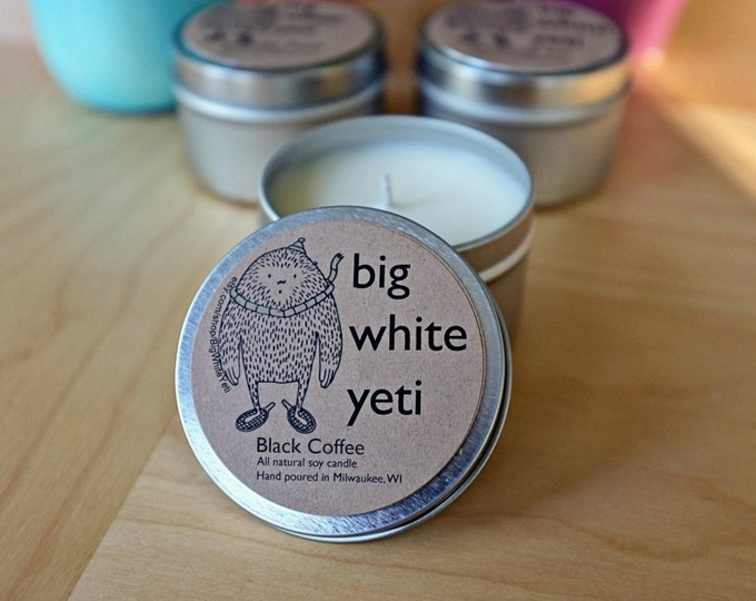 Black Coffee Soy Candle- 6oz Tin