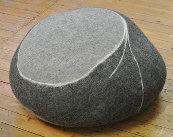 samesch pebble felted floor cushion HENRI - made in Germany - ottoman
