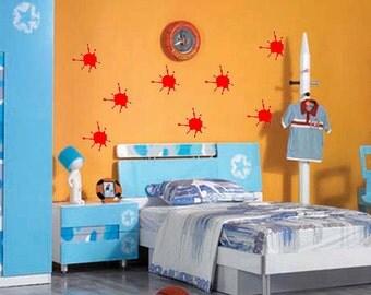 Paint splatters vinyl wall decal - set of 21