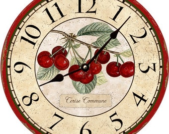 Cherry Clock- Cherry Wall Clock