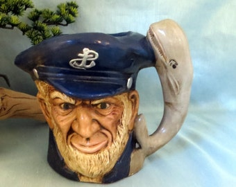 Large Sea Captain Mug_beach housewares_nautical housewares_captain mug_man cave decor_beach bar decor