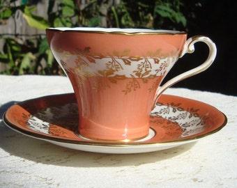 Aynsley Bone China Corset Teacup and Saucer England