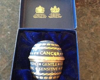 Halcyon Days Cancer Zodiac Egg