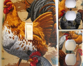 Roosters Light Switch and Outlet Covers