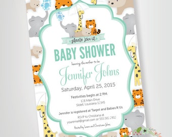 Zoo Animals Baby Shower