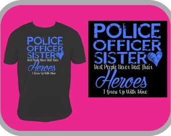 A police officer is my hero shirt