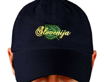 Slovenia Hat Embroidered with Lipa Leaf