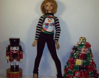 BJD Clothes - Pullover Knit Sweater and Leggings for MSD size BJD's