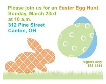 Printable Digital Easter Egg Hunt Invitations
