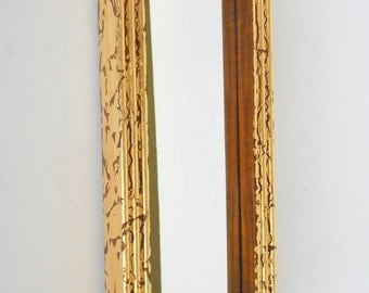 Narrow mirror gold etsy for Long skinny wall mirrors