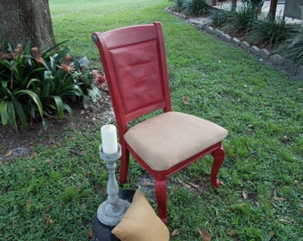 ON SALE.....Barn Red Chairs.... Set of 2