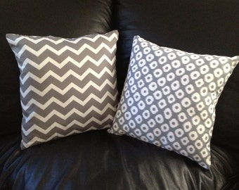 Handmade Chevron pillow monograming available