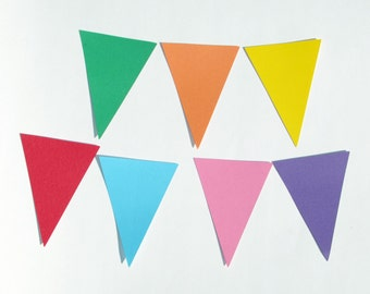 "Triangle Pennant die cuts/ banner die cuts/straight edge pennant/ size from 1.5"" to 8"" tall/ chose your color"