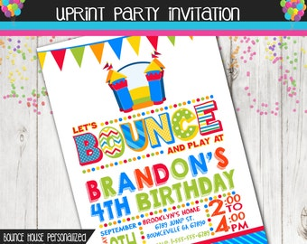 Bounce House Party - Bounce House Invitation - Jump Party - Printable