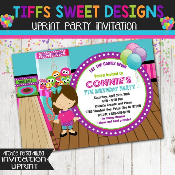 Product Search Arcade Games – Arcade Party Invitations