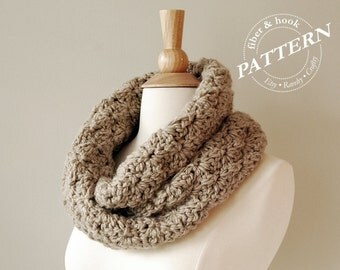 CROCHET PATTERN - Brighton Infinity Cowl, Crochet Cowl Pattern, Mobius Scarf Pattern, Crochet Snood (Toddler, Youth, Adult sizes) pdf# 037S