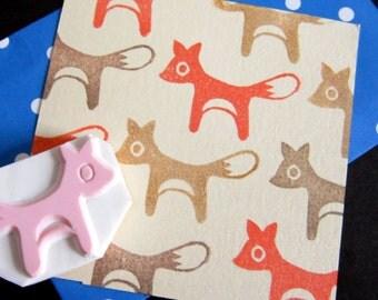 Woodland Fox rubber stamp