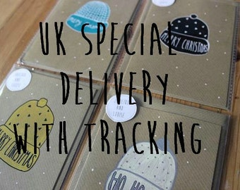 UK Special Delivery with Tracking.
