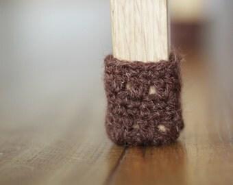 Chair socks,Floor protector,Wool chair protectors, Brown,Chair leg socks,Table socks,Furniture accessories,Home decor,Eco-friendly gift