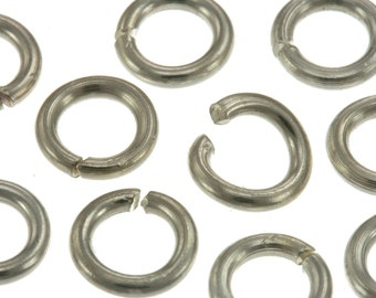 Karen Hill Tribe Silver Open end Jump Ring, 7mm , Open end jump ring