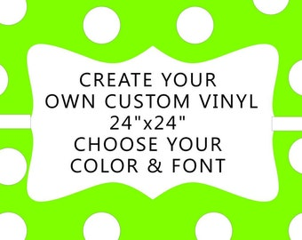 Create your own custome  decal.. Personalized wall vinyl, Vinyl Wall words.