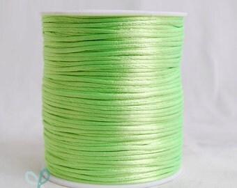 2mm x 100 yards Rattail Satin Nylon Trim Cord Chinese Knot - APPLE GREEN