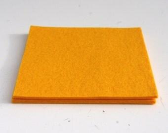 Yellow Felt Coasters, Set of Two Yellow Felt Coasters, Yellow Trivets