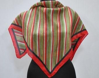 Vintage SILK scarf ....(710)