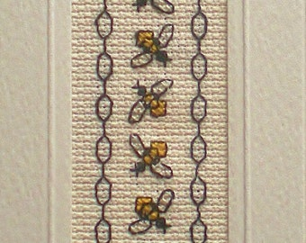 Honey Bee's Cross Stitch  Bookmark Kit