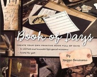 Book of Days Primitive Craft Pattern Book By Maggi Bonanomi