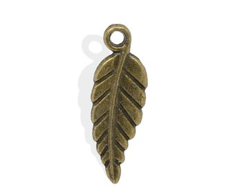 Antiqued Bronze Leaf Charms