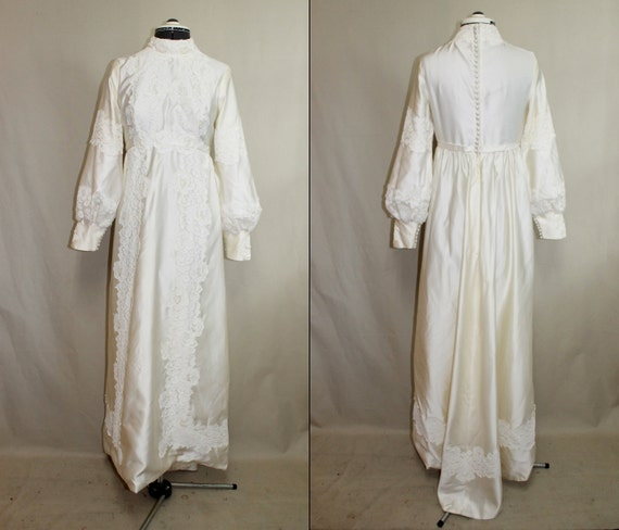 Vintage Hippie Wedding Dresses 1960s Vintage Boho Hippie Wedding